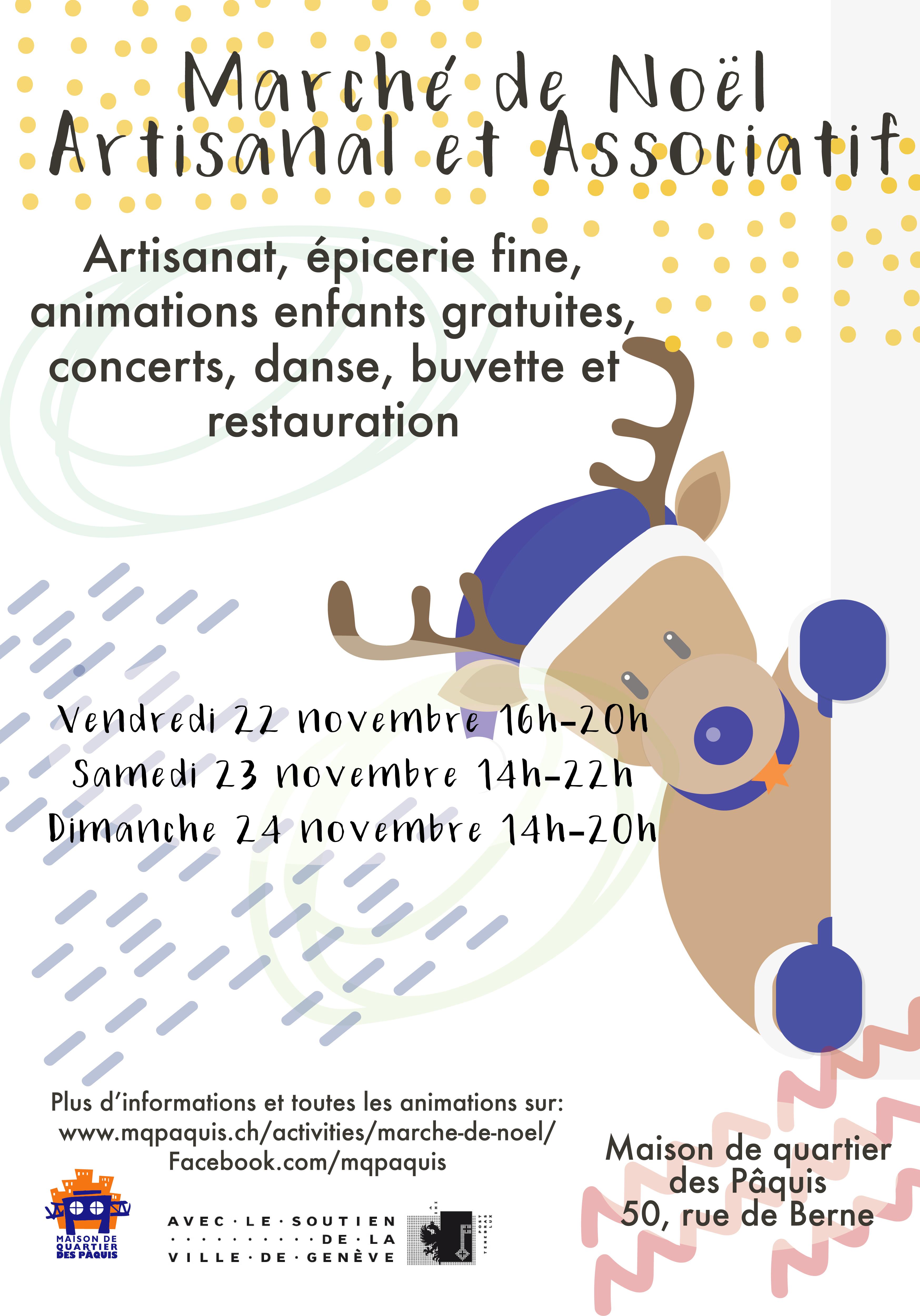 Marché de Noël artisanal et associatif de Pâquis
