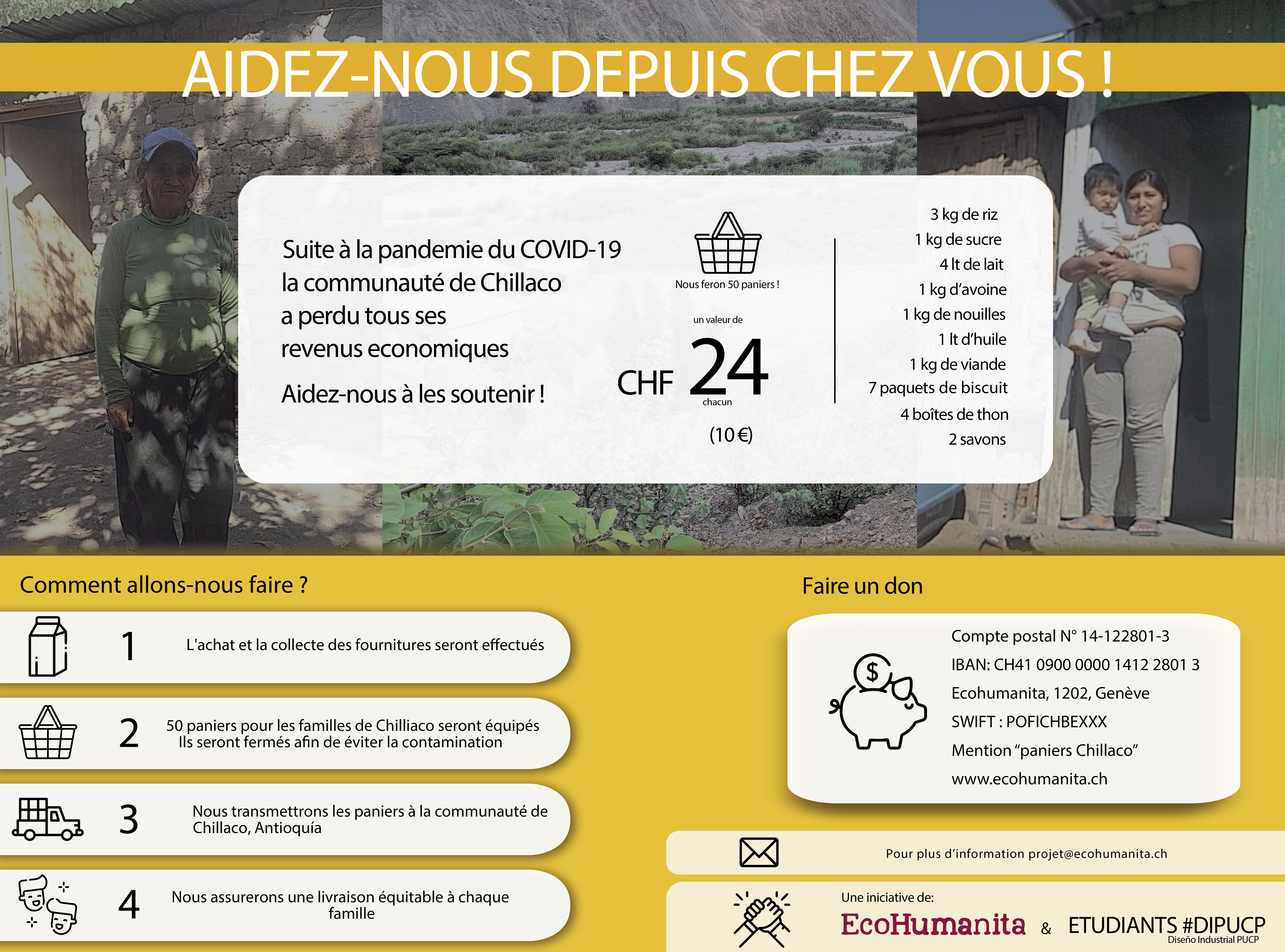 AIDEZ-NOUS DEPUIS CHEZ VOUS !